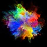 Σύγχρονη ζωηρόχρωμη έκρηξη παφλασμών χρωμάτων διανυσματική απεικόνιση
