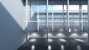 Σύγχρονη ζωτικότητα οικοδόμησης αρχιτεκτονικής ελεύθερη απεικόνιση δικαιώματος