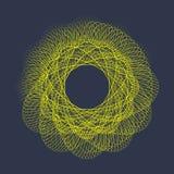 Σύγχρονη διανυσματική απεικόνιση με μια παραμορφωμένη μορφή κύκλων των μορίων Στοκ Εικόνες