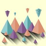 Σύγχρονη διανυσματική αφηρημένη πυραμίδα Στοκ Εικόνες