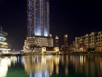 Σύγχρονη διεύθυνση ξενοδοχείων σε στο κέντρο της πόλης Burj Ντουμπάι, Ντουμπάι Στοκ εικόνα με δικαίωμα ελεύθερης χρήσης