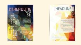 Σύγχρονη κάλυψη φυλλάδιων και χαμηλό πολύγωνο προτύπων επικεφαλίδων geomet Στοκ εικόνα με δικαίωμα ελεύθερης χρήσης