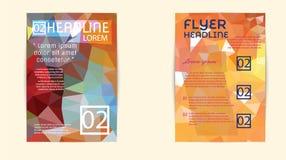 Σύγχρονη κάλυψη φυλλάδιων και χαμηλό πολύγωνο προτύπων επικεφαλίδων geomet Στοκ φωτογραφίες με δικαίωμα ελεύθερης χρήσης