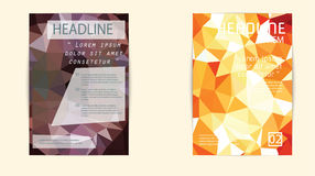 Σύγχρονη κάλυψη φυλλάδιων και χαμηλό πολύγωνο προτύπων επικεφαλίδων geomet Στοκ φωτογραφία με δικαίωμα ελεύθερης χρήσης