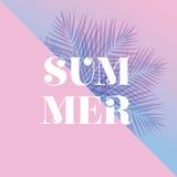 Σύγχρονη και μοντέρνη τυπογραφική αφίσα σχεδίου Καλοκαίρι κειμένων στο α Στοκ εικόνες με δικαίωμα ελεύθερης χρήσης
