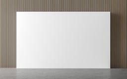 Σύγχρονη κενή εσωτερική τρισδιάστατη δίνοντας εικόνα δωματίων ελεύθερη απεικόνιση δικαιώματος