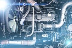 Σύγχρονη μηχανή θεριστικών μηχανών ή αυτοκινήτων ή μηχανή, τοπ άποψη στοκ φωτογραφία με δικαίωμα ελεύθερης χρήσης