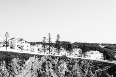 Σύγχρονη μικρή πόλη παραλιών στην Πορτογαλία Στοκ Φωτογραφία