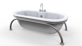 Σύγχρονη μπανιέρα που απομονώνεται στο άσπρο υπόβαθρο Στοκ εικόνες με δικαίωμα ελεύθερης χρήσης