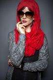 Σύγχρονη μόδα Hijab Στοκ Φωτογραφία