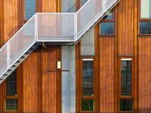 Σύγχρονη ξύλινη πρόσοψη Στοκ Φωτογραφίες