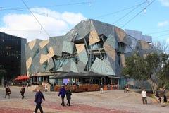 Σύγχρονη οικοδομική ομοσπονδία τετραγωνική Μελβούρνη  στοκ φωτογραφίες
