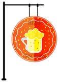 Σύγχρονη ορισμένη κούπα μπύρας Στοκ Εικόνες