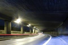 Σύγχρονη οδός tunel Στοκ Εικόνα
