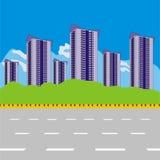 Σύγχρονη περιοχή εικονικής παράστασης πόλης στοκ εικόνες