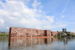 Σύγχρονη πολυκατοικία, νησί Άμστερνταμ της Ιάβας Στοκ εικόνες με δικαίωμα ελεύθερης χρήσης