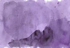 Σύγχρονη πορφυρή δονούμενη σύσταση υποβάθρου watercolor Το χρώμα s Στοκ Εικόνες