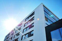 Σύγχρονη, πολυκατοικία πολυτέλειας σπίτι διαμερισμάτων σύγχρ&omicron Στοκ Εικόνα