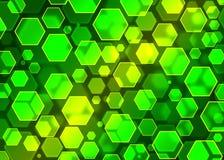 Σύγχρονη πράσινη αφηρημένη ταπετσαρία, hexagon bokeh Επίδραση Bokeh Στοκ φωτογραφία με δικαίωμα ελεύθερης χρήσης