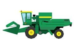 Σύγχρονη πράσινη θεριστική μηχανή διανυσματική απεικόνιση