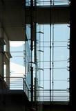 Σύγχρονη πρόσοψη, γυαλί και χάλυβας οικοδόμησης Στοκ Εικόνα