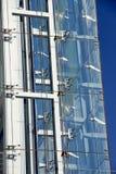 Σύγχρονη πρόσοψη, γυαλί και χάλυβας οικοδόμησης Στοκ Φωτογραφίες