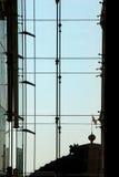 Σύγχρονη πρόσοψη, γυαλί και χάλυβας οικοδόμησης Στοκ Εικόνες