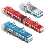 Σύγχρονη πόλεων συλλογή διανυσμάτων μεταφορών isometric Στοκ Εικόνες