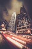 Σύγχρονη πόλη τη νύχτα στοκ εικόνες