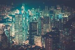 Σύγχρονη πόλη τη νύχτα στοκ φωτογραφίες με δικαίωμα ελεύθερης χρήσης