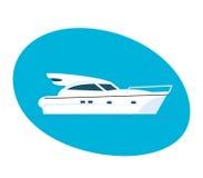 Σύγχρονη πλευρά της βάρκας επιβατών διανυσματική απεικόνιση