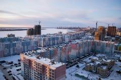 Σύγχρονη ρωσική αρχιτεκτονική των περιοχών ύπνου Στοκ Εικόνα