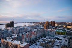 Σύγχρονη ρωσική αρχιτεκτονική των περιοχών ύπνου Στοκ φωτογραφία με δικαίωμα ελεύθερης χρήσης