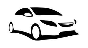 σύγχρονη σκιαγραφία αυτοκινήτων Στοκ Φωτογραφίες