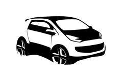 σύγχρονη σκιαγραφία αυτοκινήτων Στοκ εικόνα με δικαίωμα ελεύθερης χρήσης