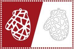 Σύγχρονη σφαίρα γαντιών Χριστουγέννων Παιχνίδι του νέου έτους για την κοπή λέιζερ επίσης corel σύρετε το διάνυσμα απεικόνισης ελεύθερη απεικόνιση δικαιώματος