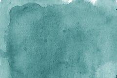 Σύγχρονη σύσταση υποβάθρου watercolor aquamarine Τα splas χρώματος Στοκ Φωτογραφία
