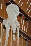 Σύγχρονη τέχνη: Εγκατάσταση, αναπαραγωγή του κεφαλιού του Δαβίδ Στοκ Εικόνες