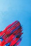 Σύγχρονη τέχνη, δημιουργική ζωγραφική, στιλβωτική ουσία καρφιών σπινθηρίσματος Στοκ εικόνα με δικαίωμα ελεύθερης χρήσης