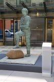 Σύγχρονη τέχνη στην επίδειξη στην κύρια έδρα της Christie ` s σε Rockefeller Plaza στη Νέα Υόρκη Στοκ εικόνα με δικαίωμα ελεύθερης χρήσης