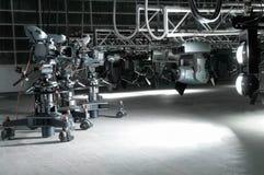 σύγχρονη τηλεόραση στούντιο εξοπλισμού Στοκ Εικόνες
