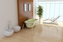 σύγχρονη τουαλέτα Στοκ εικόνα με δικαίωμα ελεύθερης χρήσης