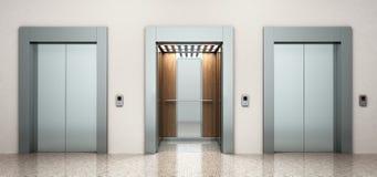 Σύγχρονη τρισδιάστατη δίνοντας εικόνα χάλυβα elevatore Στοκ Εικόνες
