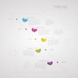 Σύγχρονη υπόδειξη ως προς το χρόνο Infographic Με τα εικονίδια eps σχεδίου 10 ανασκόπησης διάνυσμα τεχνολογίας Στοκ Φωτογραφίες