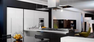 σύγχρονη όψη κουζινών Στοκ φωτογραφία με δικαίωμα ελεύθερης χρήσης