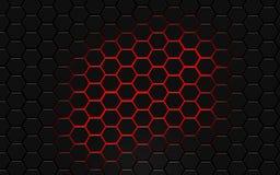Σύγχρονη hexagon περίληψη Ταπετσαρία υπολογιστών γραφείου Στοκ Εικόνες