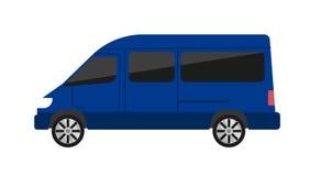 Σύγχρονη minivan απομονωμένη διανυσματική απεικόνιση Στοκ Εικόνες