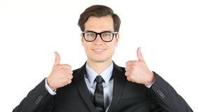 Σύγχρονοι αντίχειρες επιχειρηματιών επάνω, κέρδος, εισόδημα, αποδοχές, κέρδος, Στοκ Εικόνες
