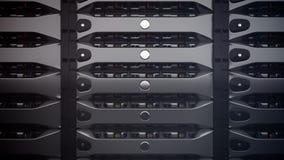 Σύγχρονοι κεντρικοί υπολογιστές δικτύων σε ένα κέντρο δεδομένων Στοκ εικόνες με δικαίωμα ελεύθερης χρήσης