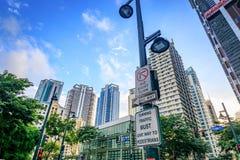 Σύγχρονοι ουρανοξύστες στη σφαιρική πόλη Bonifacio την 1η Σεπτεμβρίου 2017 στο TA Στοκ Φωτογραφίες